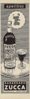 # RABARBARO ZUCCA 1950s Advert Pubblicità Publicitè Reklame Food Drink Liquor Liquore Liqueur Licor Alcohol Bebidas - Manifesti