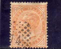 ITALIA REGNO ITALY KINGDOM 1863 1865 VITTORIO EMANUELE II  10 CENT.  USATO NUMERALE A PUNTI DAL 1966 NUMERAL POINTS USED - 1861-78 Vittorio Emanuele II