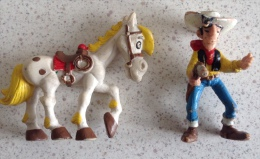 Figurines Lucky Lucke Et Son Cheval Jolly Jumper -rare - Figurines