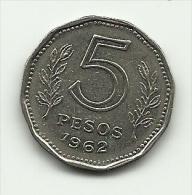 1962 - Argentina 5 Pesos, - Argentina