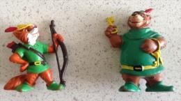 Figurines Disney - Robin Des Bois Et Petit Jean - Rare - Figurines