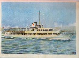 AK SCHIFFE DAMPFER SHIP  S/S ALEKSA SANTIC OLD POSTCARD - Dampfer