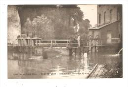 CPA : 62 - Blandecques ( St Omer ) : Vue Sur La Rivière Aa : Pont - écluse - Bâtiment -homme -  Peu Commune - Saint Omer