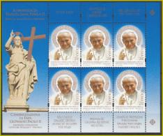 VATICANO 2014 Emissione POLONIA Congiunta Foglietto Canonizzazione Papa Giovanni Paolo II  -  2,35 Zl X 6 V - Blocchi E Foglietti