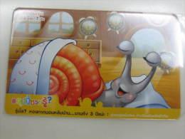 Prepaid Phonecard,snail,used - Thaïlande