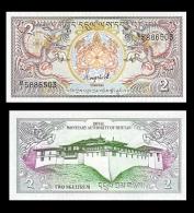 1986 Bhutan Banknote 2 Ngultrum UNC - Bhutan