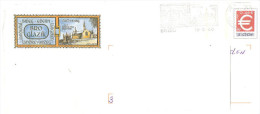 CACHET OBLITERATION FLAMME EMA BRIEC PAYS GLAZIK BRO LANGOLEN LANDUDAL LANDREVARZEG BRIEG EDERN PAP  ENVELOPPE 22X11 - 1961-....