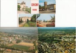 69 - GRIGNY  - LOT De 6 CPM - Vues Générales, Cités Logirel, Stade - Grigny