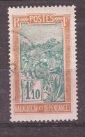 MADAGASCAR, 1927, Type Transport En Filanzane, Yvert N° 161, 1 F 10  Bistre / Vert , Obl, TB, Cote 2,50 Euros - Madagascar (1889-1960)