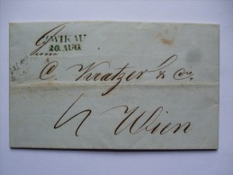 GERMANY 1848 ENTIRE FROM ZWICKAU TO WIEN Österreich WITH CLEAR MARKS - Alemania