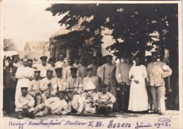 Photo Allemande- Militaires Soldats Allemands Bléssés 1915 ESSEN (photo 10,5 X 7cm) (guerre14-18) - Weltkrieg 1914-18
