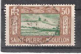 ST SAINT PIERRE ET MIQUELON, 1932, Yvert N° 147, 50 C Brun / Vert , Obl Centrale, TB ! - Usados