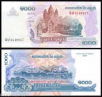 2007 Cambodia Cambodge Banknote 1000 Riels 1 Piece UNC - Cambodia