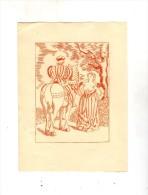 Gravure érotique , Femme  Nue , Cavalier , Cheval , 15 X 20 Cms - Prints & Engravings