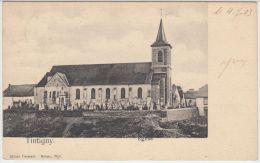 21369g CIMETIERE - EGLISE -  Tintigny - 1903 - Tintigny