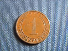 ALLEMAGNE - 1 REICHSPFENNIG 1931 A. - [ 3] 1918-1933 : República De Weimar