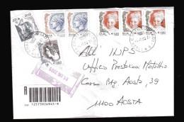 Italia- 2004  St Pos Timbro 2005. Donne € 0,90 X3 + Altro. Raccomandata. Vedi Descrizione - 6. 1946-.. Republik
