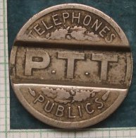 M_p> Francia Gettone Telefonico 1937 Circolato ( 2° Alternativa Meno Cara ) - Monetari / Di Necessità