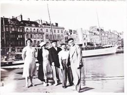 Vieille Photo Le Havre 1934 Bassin Yacht Bateau A Vapeur - Ancianas (antes De 1900)