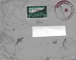 Lettre France - Colonies . (( Avec Cachet Rouge Délégation Colonial De La Croix Rouge Française )) - Cartas