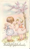 Ilustrator - R - Little Girls With Flowers, Filles Avec Des Fleurs, Mädchen Mit Blumen - Illustrateurs & Photographes