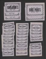 Lot De 30 Bons Points  -  Mauve  -  Année 50/60  -  2/100 Pts- 3/50Pts- 4/10 Pts - 21/5 Pts. - Zonder Classificatie