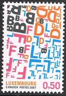 Année 2007 -  COB 3676** -  Timbre Luxembourgeois - Ongebruikt