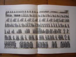 Lot De 1 Planche Litho   Personnages Hollande ... Imprimeur Firmin Didot - Lithographies
