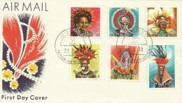 Papua New Guinea 1978 Headdresses Dated 29-3-79, Boroko Postmark, FDC - Papua New Guinea