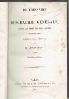 DICTIONNAIRE DE BIOGRAPHIE GENERALE - 1883 - Publié Sous La Direction De Léo JOUBERT - Librairie FIRMIN DIDOT Cie (3582) - Dictionnaires