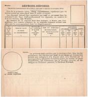 Dépêche-réponse Pdt Siège Neuve - Carte 5cts Avec Questions - 1870 Siege Of Paris