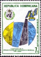 Ref. 307997 * MNH * - DOMINICANA. 1973. CENTENARY OF THE WORLD METEOROLOGICAL ORGANIZATION . CENTENARIO DE LA ORGANIZACI - Climate & Meteorology