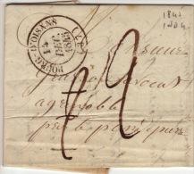 ISERE - Bourg D´Oisans - Lettre Avec Correspondance  -CAD Type 14-Tm2 Tm2 N - 1845 - Postmark Collection (Covers)