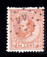 Netherlands Scott    27 Used VG   ....  CV 4.00 - Period 1852-1890 (Willem III)