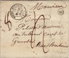 ISERE - Bourg D´Oisans - Lettre Avec Correspondance  -CAD Type 14-OR Tm4 N - 1849 - Postmark Collection (Covers)