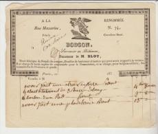 Paris : TB Facture Illustrée Du Serrurier- Quincaillier En Bâtimens BODSON, 74 Rue Mazarine. - 1800 – 1899