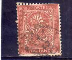 ITALIA REGNO ITALY KINGDOM 1865 VITTORIO EMANUELE II  2 CENT.  ROSSO MATTONE USATO USED - 1861-78 Vittorio Emanuele II
