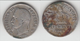 **** 50 CENTIMES 1864 K BORDEAUX NAPOLEON III - ARGENT **** EN ACHAT IMMEDIAT !!! - Francia