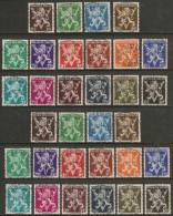 Nrs 674/689A Heraldieke Leeuw/Lion Héraldique Grand V Gestp/oblit Centrale - Oblitérés