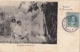 Amérique - Vénézuela - Saludo De Venezuela - Haciendo El Chichorro - Artisanat - Postal Mark - Venezuela