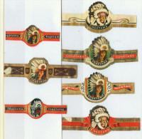 7 Alte Zigarrenbanderolen - Bauchbinden Der Zigarrenmarke Cogétama - Bagues De Cigares