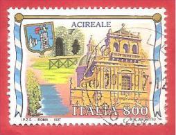 ITALIA REPUBBLICA USATO - 1997 - Turismo - 24ª Emissione - Acireale - £ 800 - S. 2279 - 1991-00: Oblitérés