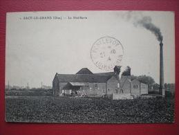 CPA 60 SACY LE GRAND La Distillerie , Voyagé 1914 , Industrie Usine - Francia