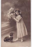 CARD CANE BASSOTTO  SAUS-AGE DOG  BASSET SIGNORINETTA -FP-N-2-0882-20028 - Chiens