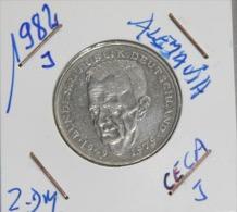 Alemania 2.00  Mark (Kurt Schumacher) Año 1982- ( CECA – J -) MONEDA CIRCULADA - CONSERVACIÓN ( MBC ) - 2 Mark