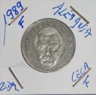 Alemania 2 Mark (Ludwig Erhard) Año 1989- ( CECA – F-) MONEDA CIRCULADA - CONSERVACIÓN ( MBC ) - 2 Mark