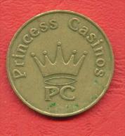 F2379 / - PRINCESS CASINOS - 27 Mm - Jeton Token  Gettone  - SOFIA - Bulgaria Bulgarie Bulgarien Bulgarije - Casino
