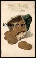 ALTE MÜNZEN POSTKARTE NEUJAHR PREUSSEN ENGLAND ÖSTERREICH FRANKREICH Coin Coins Billettes Münze Geldschein Billet Money - Monnaies (représentations)