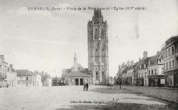 Verneuil - Place De La Madeleine Et L'Eglise - Carte Non Circulée - Verneuil-sur-Avre