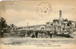 51.FISMES.......GUERRE 1914/1918....CPA...ANIMEE....LES ECOLES DETRUITES.........LOT M1 - Fismes